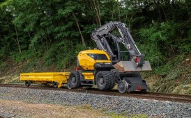 A compact excavator for railway construction and maintenance