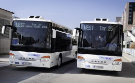 Bus Setra per il trasporto dipendenti all'aeroporto di Francoforte