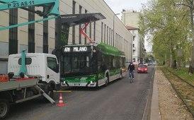 A Milano le prove dinamiche di bus elettrici in captazione