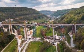 Cometto per il cantiere del Ponte Filstal [FOTO E VIDEO]