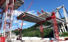 I lavori di demolizione del Ponte Morandi 'premiano' Fagioli [FOTO GALLERY]