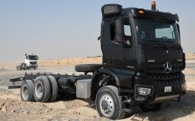 Debutto a Dubai per gli Actros e Arocs di Mercedes-Benz