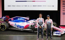 JCB in pista con SportPesa Racing Point F1