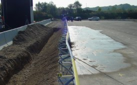 The barrier for embankment working correctly on banks and road side