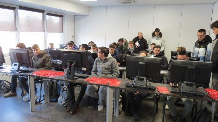 Studenti nell'aula Musmeci