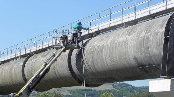 Trattamento anticorrosivo su tubazioni dell'acquedotto Sinni