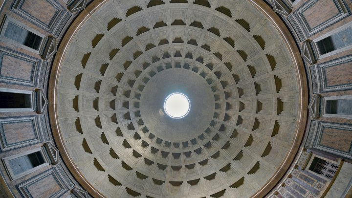 La cupola del Pantheon di Roma