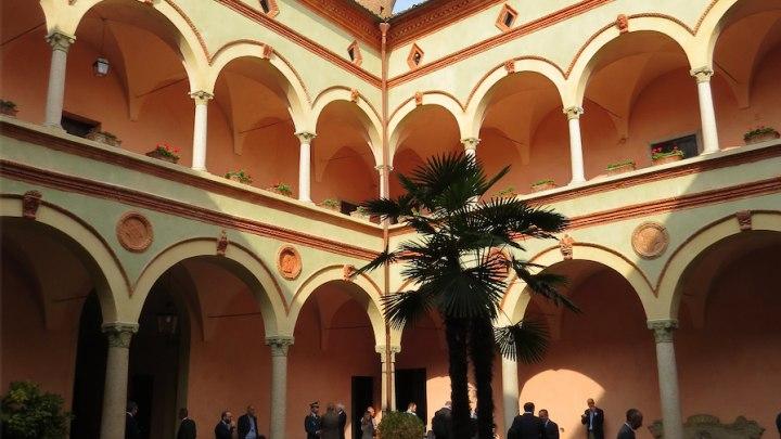 Particolare della splendida location (il borgo di Rivalta, Piacenza)